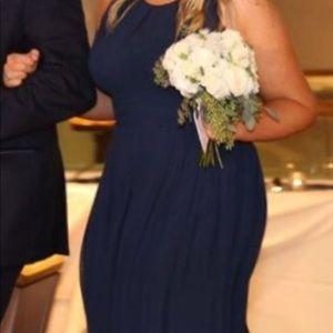 Bill Levkoff Navy Bridesmaid Dress Alt to 16 Long